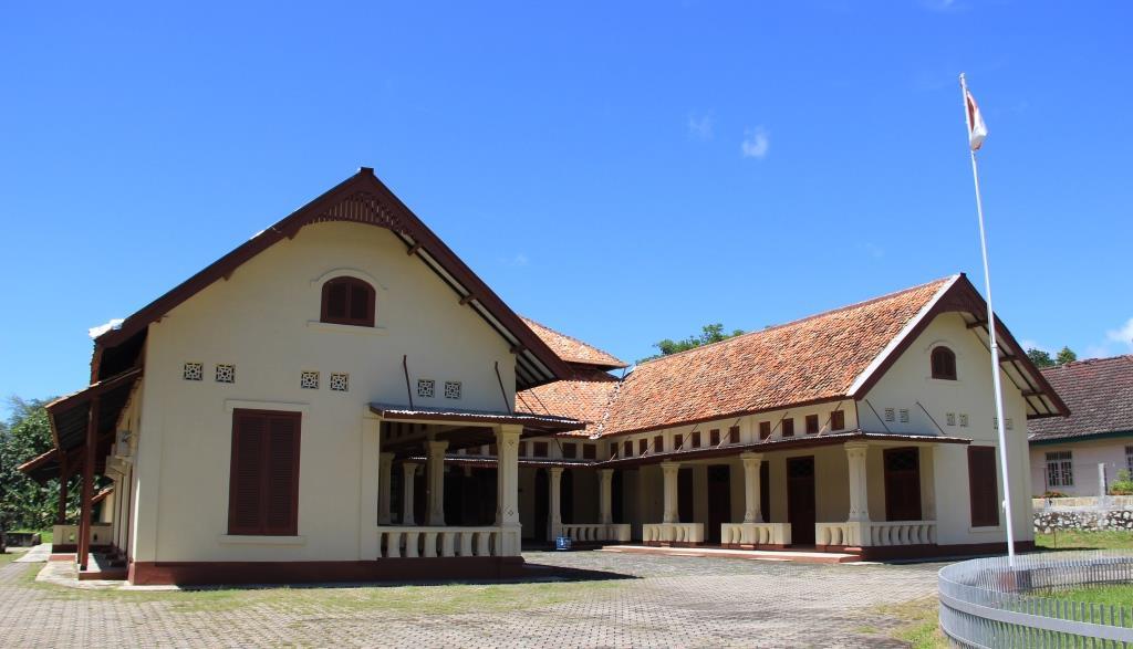 Pesanggrahan Muntok / Rumah Ranggam, tempat bung Karno diasingkan di Bangka